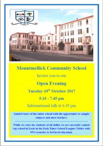 Open Evening 10/10/2017
